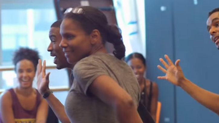 Audra McDonald in rehearsal for Shuffle Along on Broadway