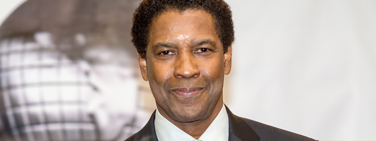 Denzel Washington on the red carpet.