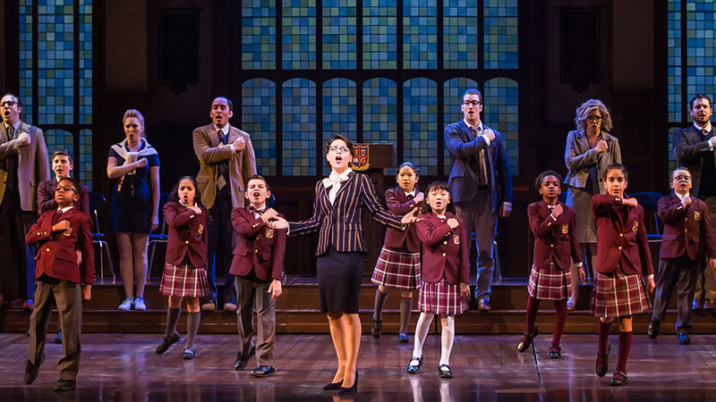 The cast of School of Rock on Broadway