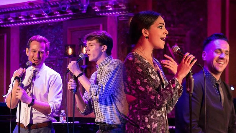 Chad Kimball, Brody Grant, and Ana Villafañe perform at 54 Below for Broadway Back to School