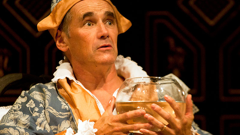 Mark Rylance in FARINELLI AND THE KING on Broadway at the Belasco Theatre