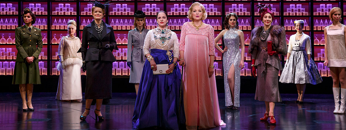 Patti LuPone, Christine Ebersole, and the company of the Broadway musical War Paint