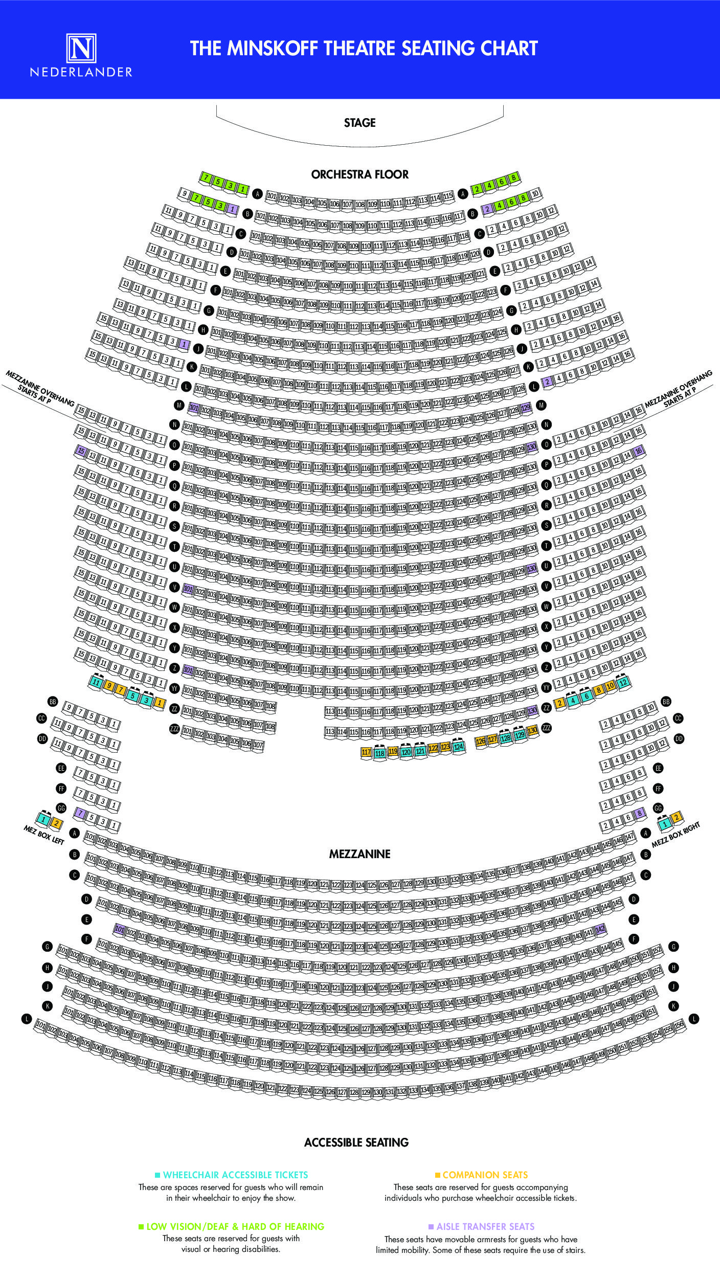 Minskoff Theatre Broadway Direct. Minskoff Venue Ada Chart Final Effective 81815. Lincoln. Lincoln Theatre Seating Diagram At Scoala.co