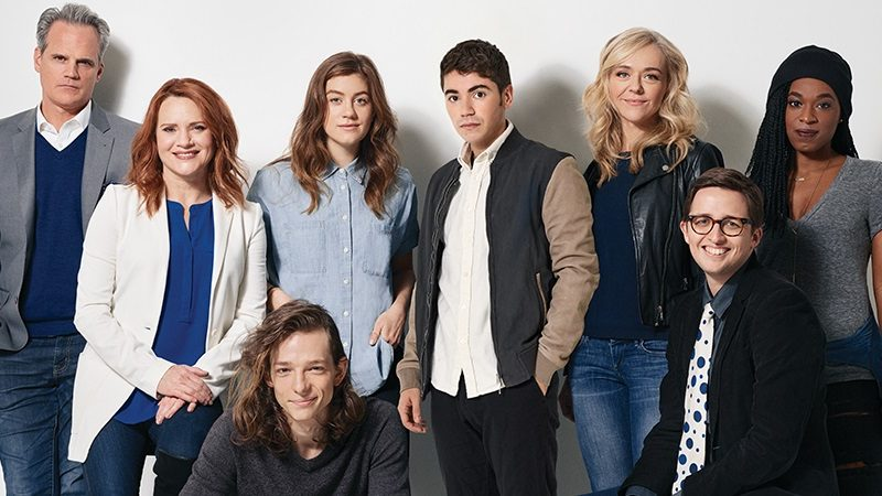 Noah Galvin and the cast of the Tony-winning musical Dear Evan Hansen on Broadway