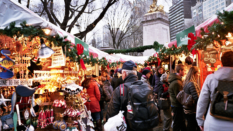 The Holiday markets at Columbus Circle