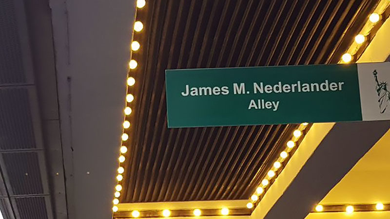 "Mayor's Office of Media and Entertainment Unveils ""James M. Nederlander Alley"""