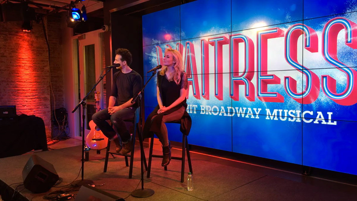 Jason Mraz and Betsy Wolfe give a sneak peek of the musical Waitress on Broadway