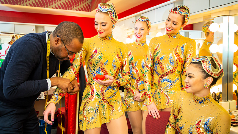 The Radio City Rockettes get fitted for new costumes