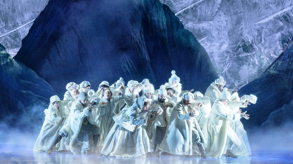 "The company of Disney's Frozen performing ""Colder by the Minute"""