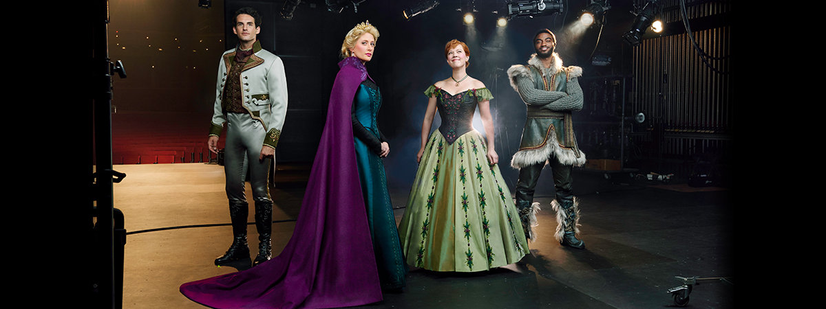 John Riddle, Caissie Levy, Patti Murin, and Jelani Alladin in the Disney musical Frozen