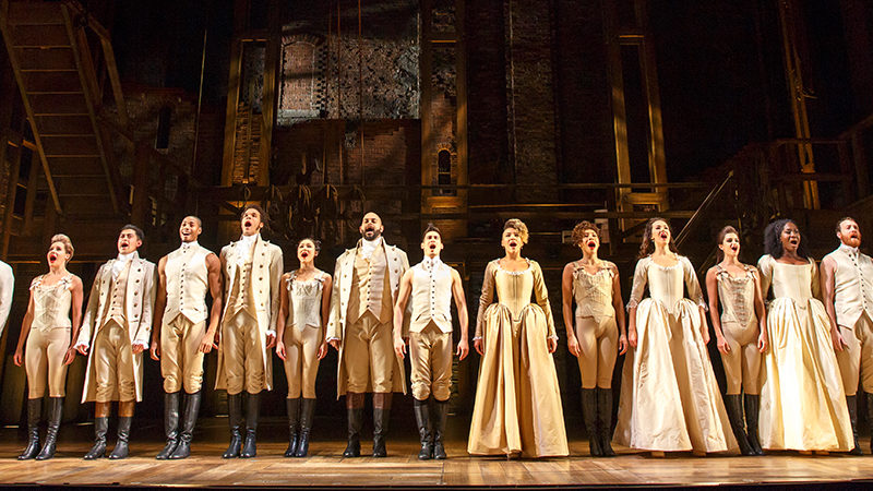 The National Tour of Hamilton the musical. Photo by Joan Marcus