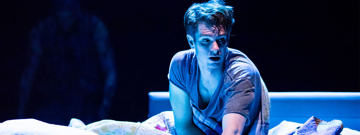 Andrew Garfield in the National Theatre production of Angels in America