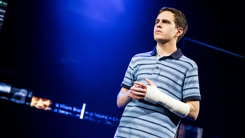Taylor Trensch in Dear Evan Hansen. Photo by Matthew Murphy.