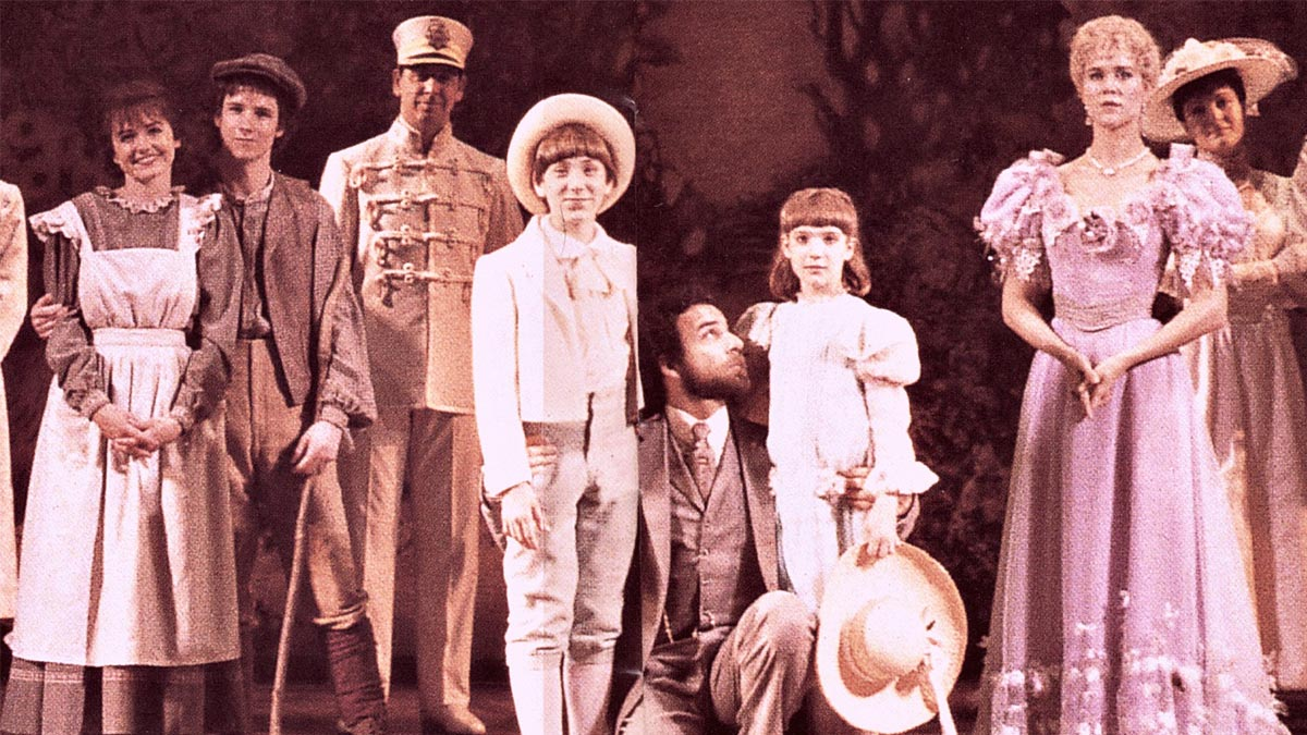 The cast of the original Broadway production of The Secret Garden.