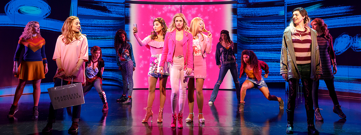 The company of Mean Girls the Musical on Broadway