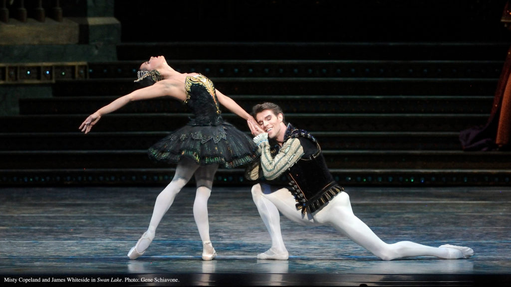 Misty Copeland and James Whiteside in Swan Lake.