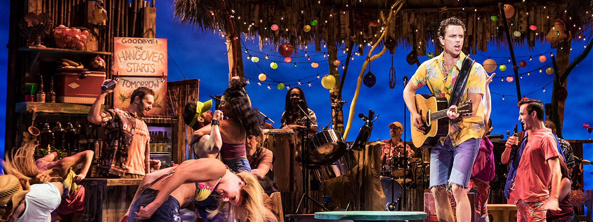The Broadway company of Escape to Margaritaville