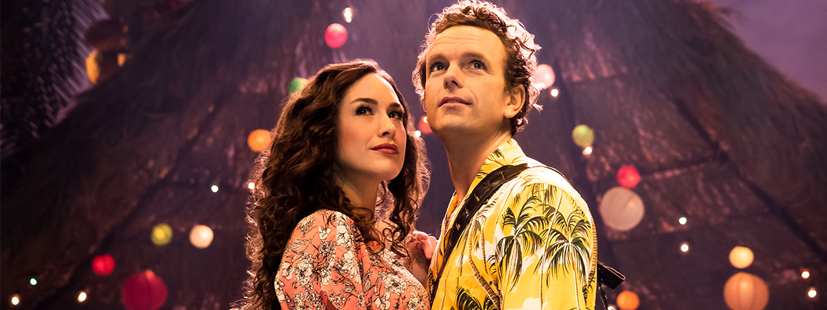 Alison Luff and Paul Alexander Nolan in Jimmy Buffet's Escape to Margaritaville on Broadway