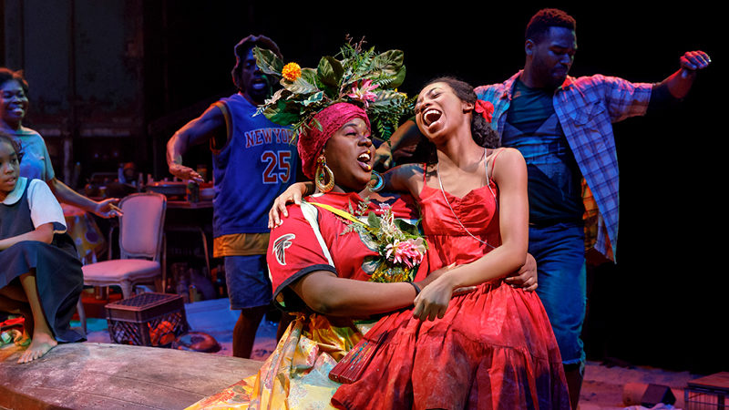 Alex Newell and Hailey Kilgore in Once On This Island