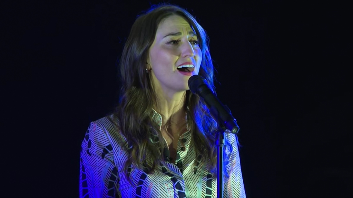 Sara Bareilles sings from the Broadway musical Jesus Christ Superstar
