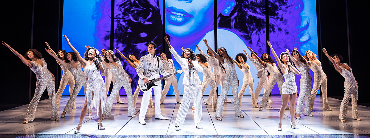 The company of Summer: The Donna Summer Musical on Broadway