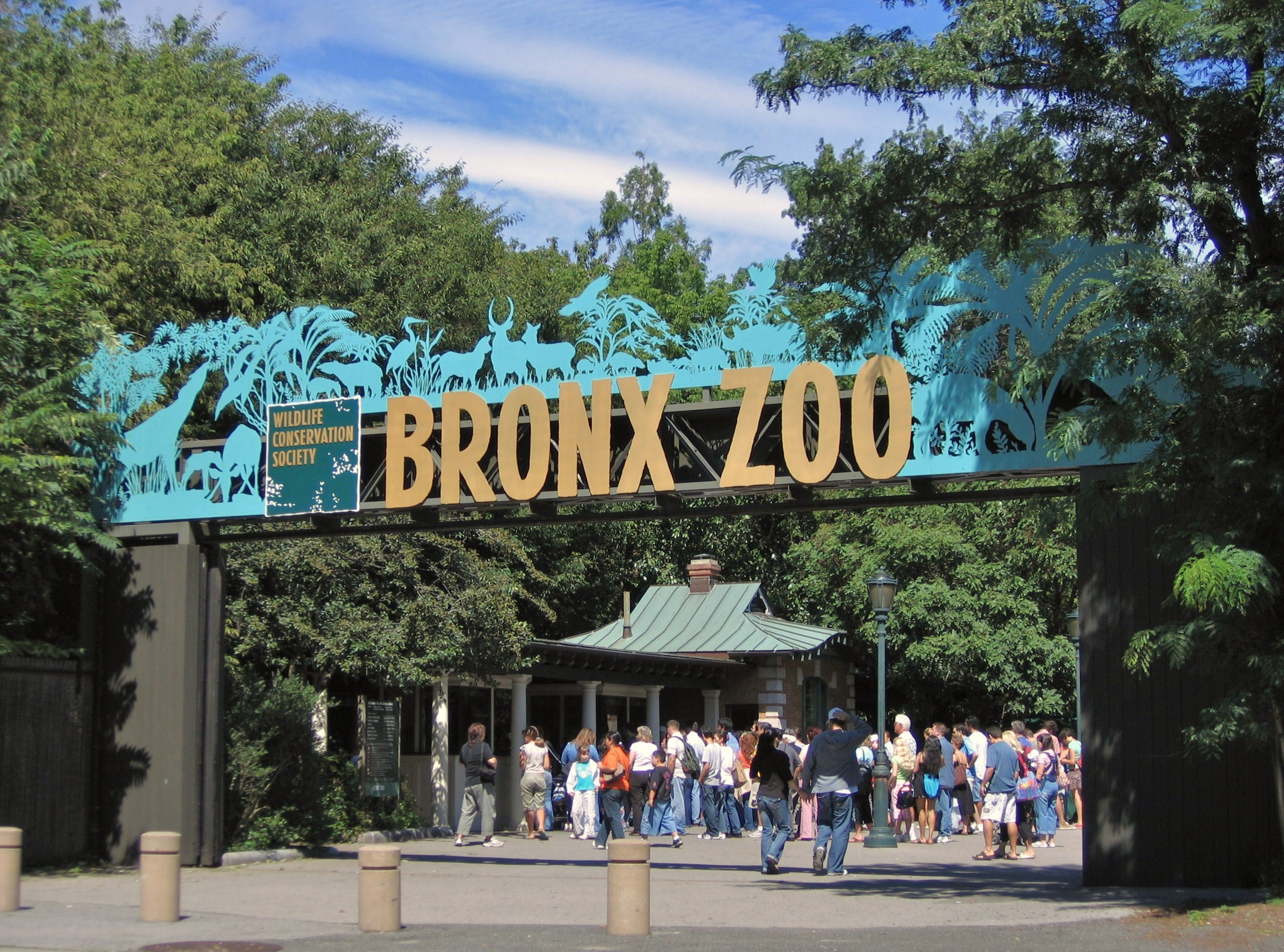 The entrance to The Bronx Zoo