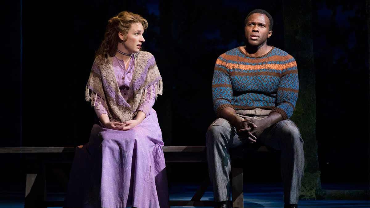 Jessie Mueller and Joshua Henry in <i>Carousel</i>. Photo by Julieta Cervantes.