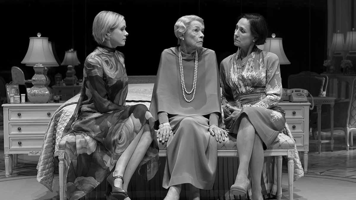 Alison Pill, Glenda Jackson, and Laurie Metcalf in <i>Three Tall Women</i>. Photo by Brigitte Lacombe.