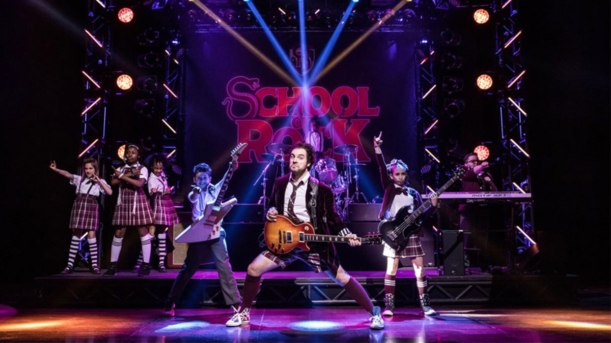 The Broadway cast of School of Rock The Musical