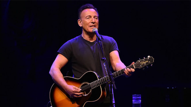 Bruce Springsteen performing on Broadway