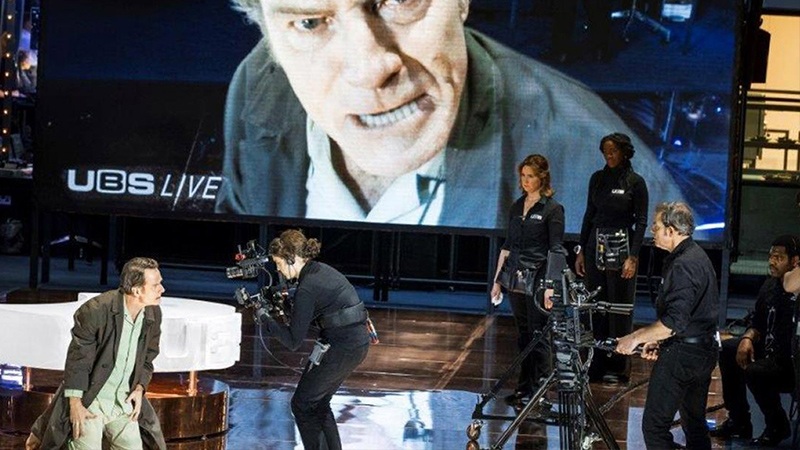 Bryan Cranston in the London production of Network. Photo by Jan Versweyveld.