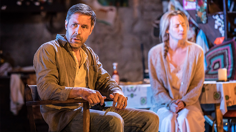Paddy Considine and Genevieve O'Reilly in the original London production of The Ferryman. Photo by Johan Persson.