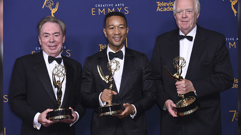 Andrew Lloyd Webber, John Legend, and Tim Rice have reached EGOT status