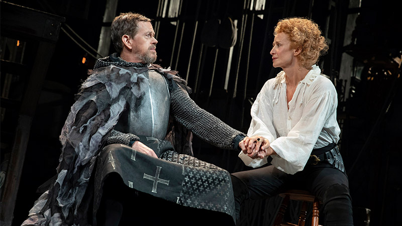 Dylan Baker and Janet McTeer in <i>Bernhardt/Hamlet</i>. Photo by Joan Marcus.