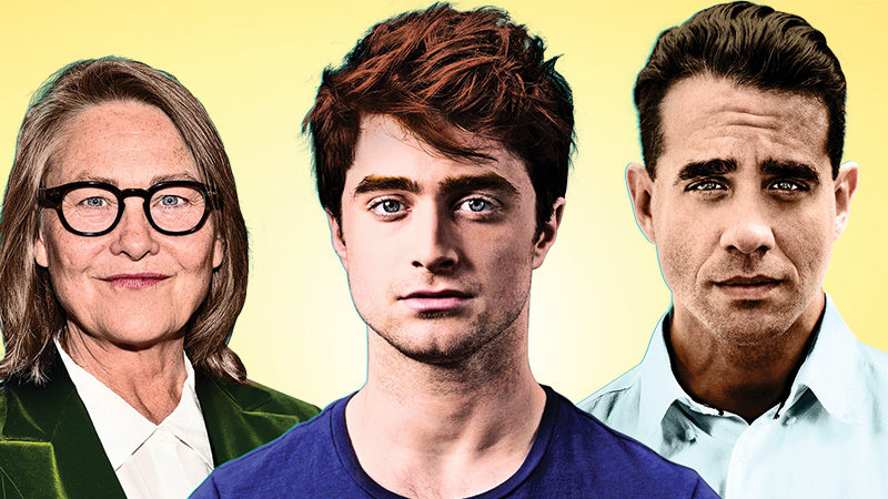 Cherry Jones, Daniel Radcliffe, and Bobby Canavale star in the Broadway production of The Lifespan of a Fact