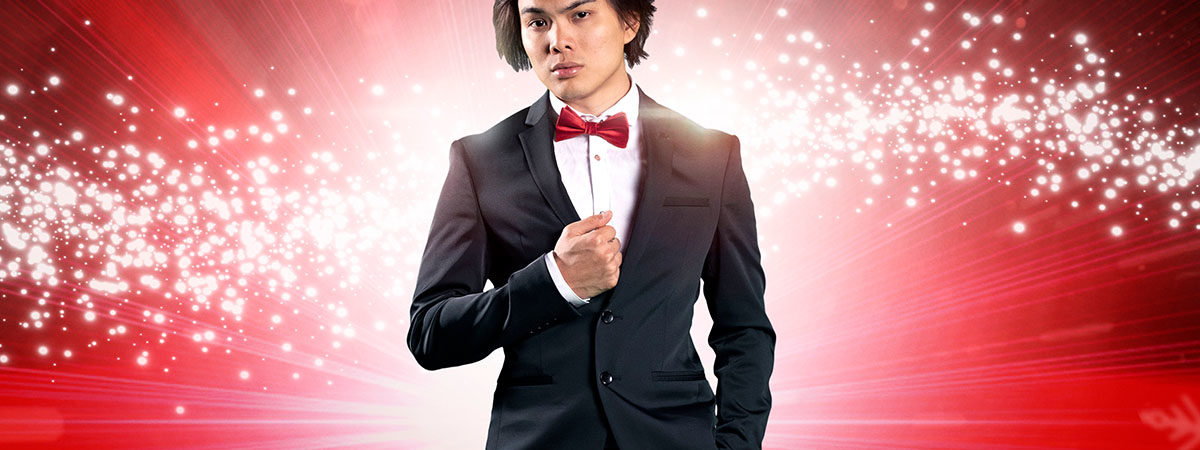 Shin Lim, winner of America's Got Talent, stars in The Illusionists - The Magic of the Holidays on Broadway.