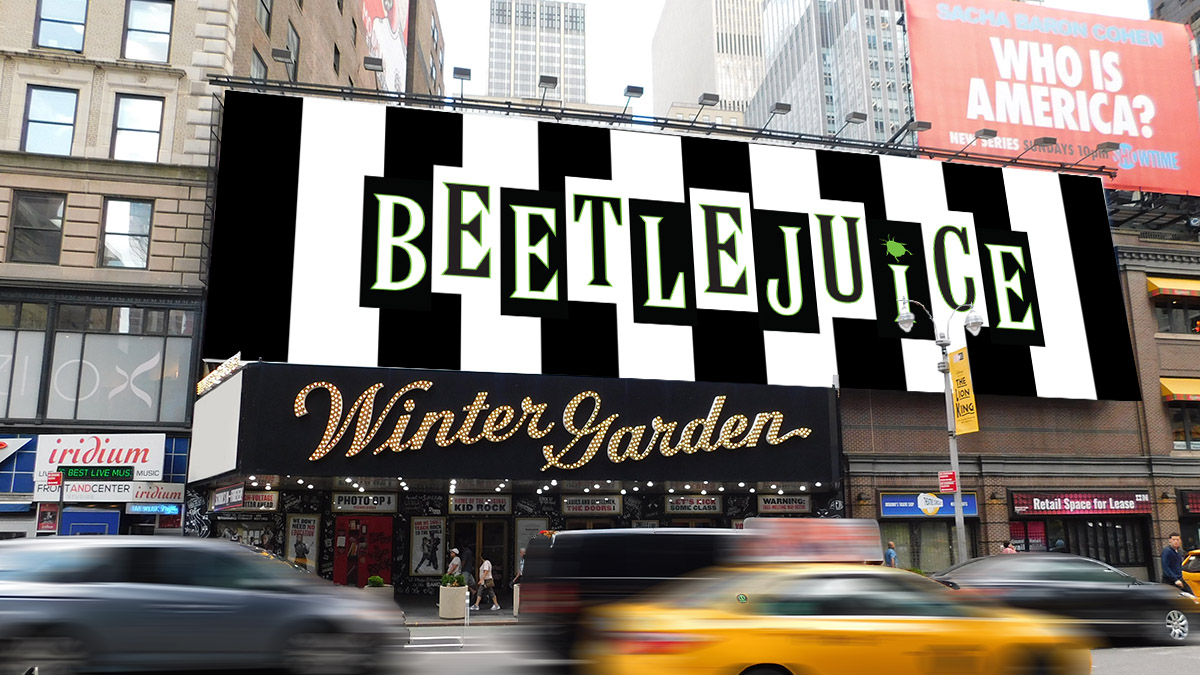 Beetlejuice will play Broadway's Winter Garden Theatre in Spring 2019