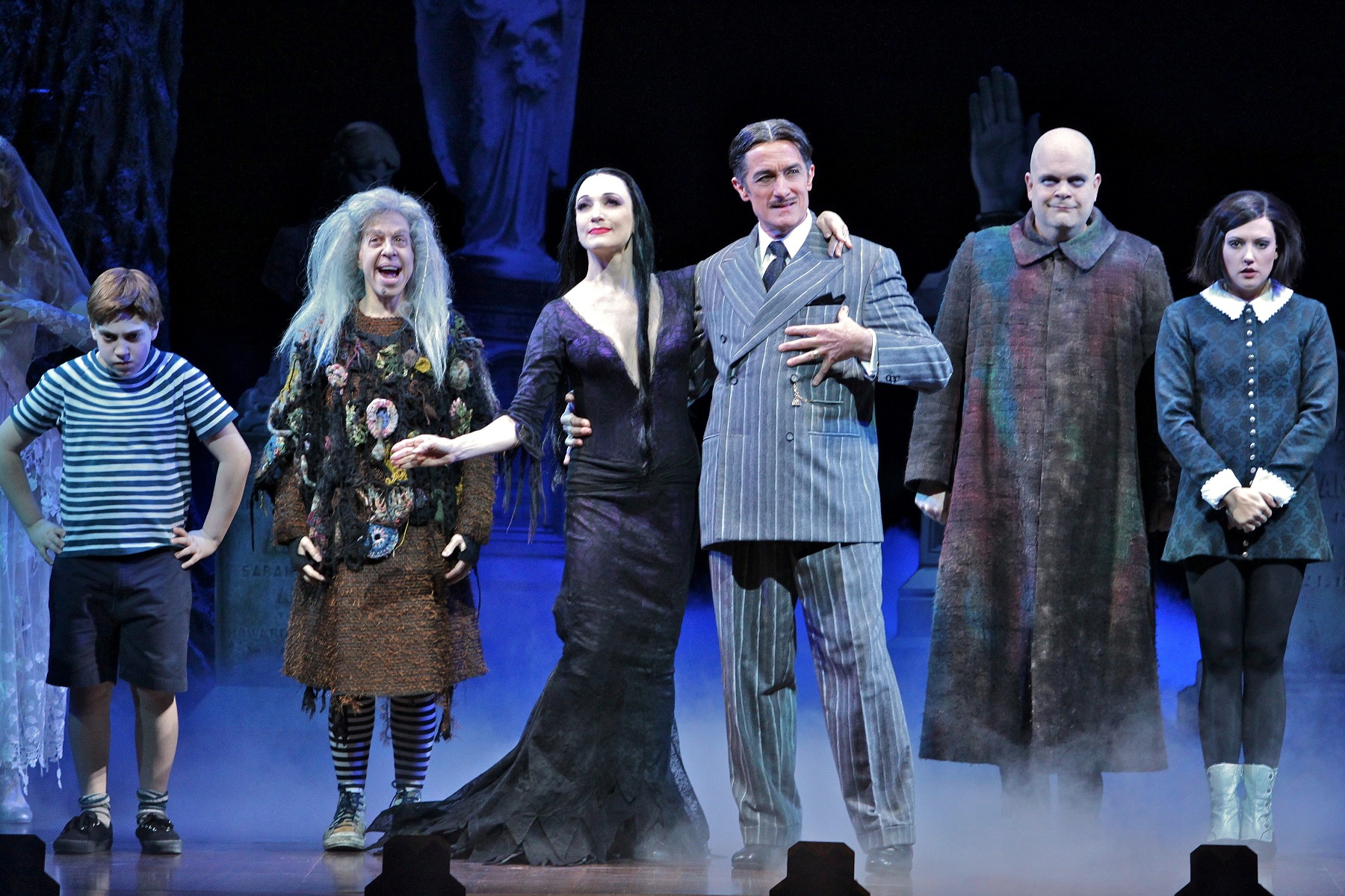 The Broadway cast of The Addams Family