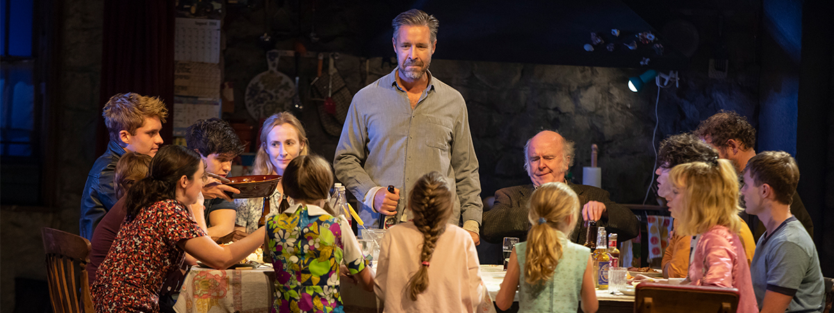 Paddy Considine and the company of The Ferryman. Photo by Joan Marcus.