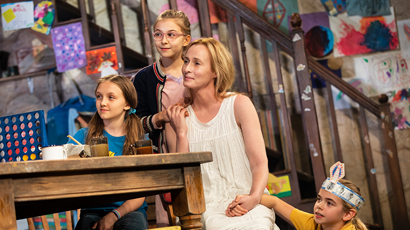 Willow McCarthy, Brooklyn Shuck, Genevieve O'Reilly, and Matilda Lawler in <i>The Ferryman</i>. Photo by Joan Marcus.