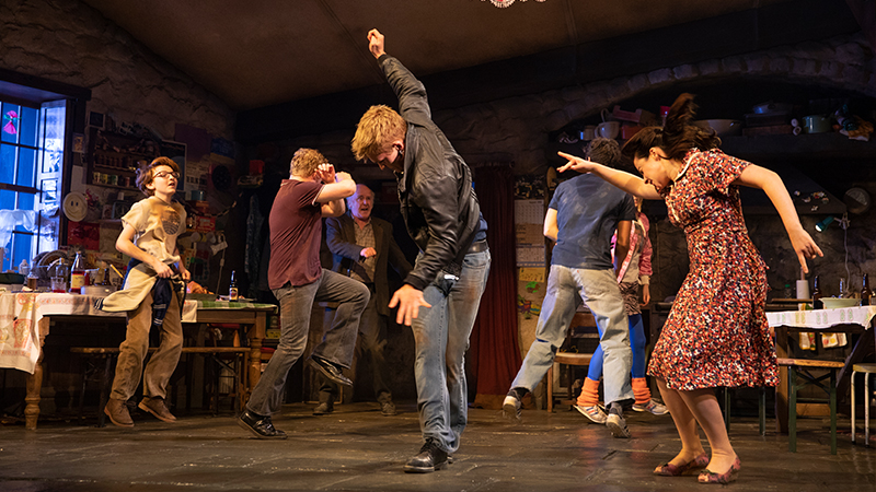 The Company of <i>The Ferryman</i>. Photo by Joan Marcus.