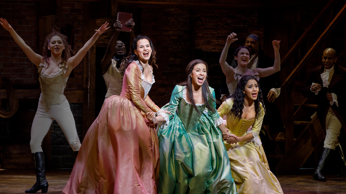 The Schuler Sisters in the Broadway production of Hamilton the Musical