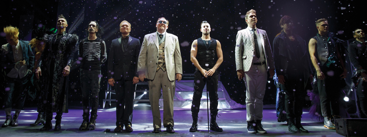 The company of The Illusionists on Broadway