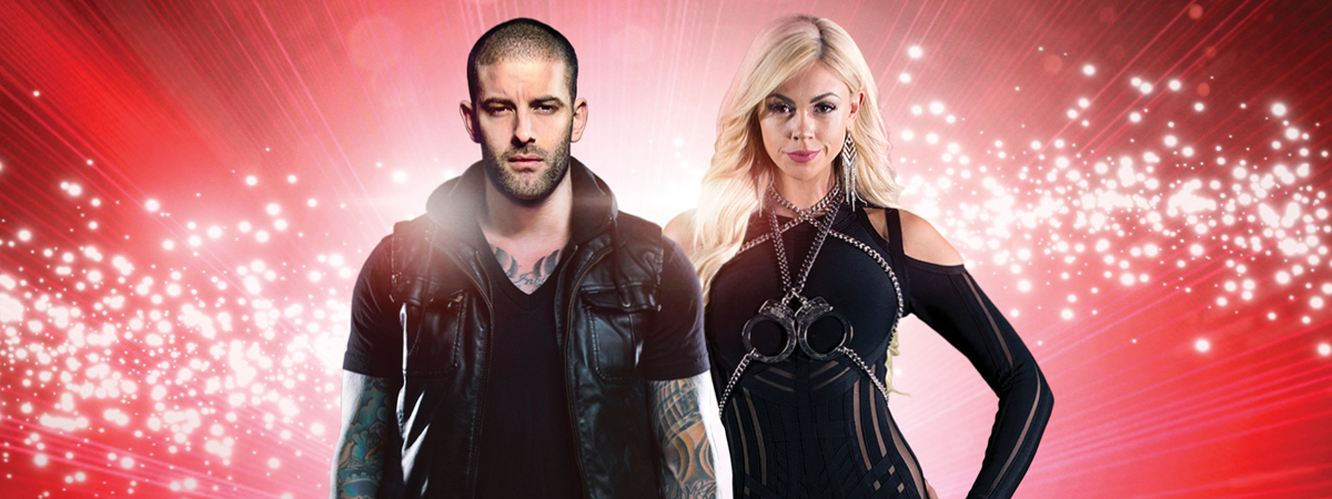 Darcy Oake and Chloé in The Illusionists Home for the Holidays on Broadway