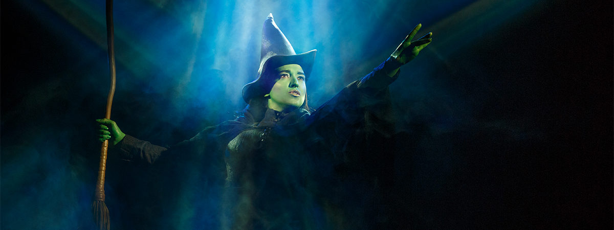 Jessica Vosk as Elphaba in the Broadway musical Wicked