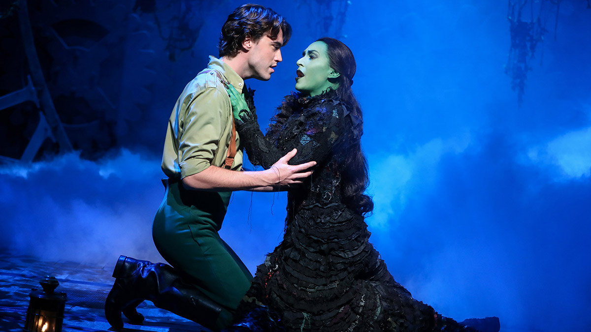 Ryan Mc Cartan and Jessica Vosk in Wicked