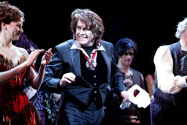 "Stage legend Michael Crawford (with Mandy Gonzales) takes his final bow in ""Dance of the Vampires"" on Broadway. The show closed as a major critical and financial flop, losing more than $12 million; it was Crawford's return to the N.Y. stage after his huge success in ""The Phantom of the Opera."" (Photo by Bruce Glikas/FilmMagic)"