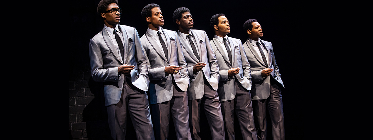 The cast of Aint Too Proud The Life and Times of the Temptations