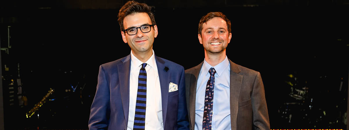 Joe Iconis and Joe Tracz, the writers of Be More Chill