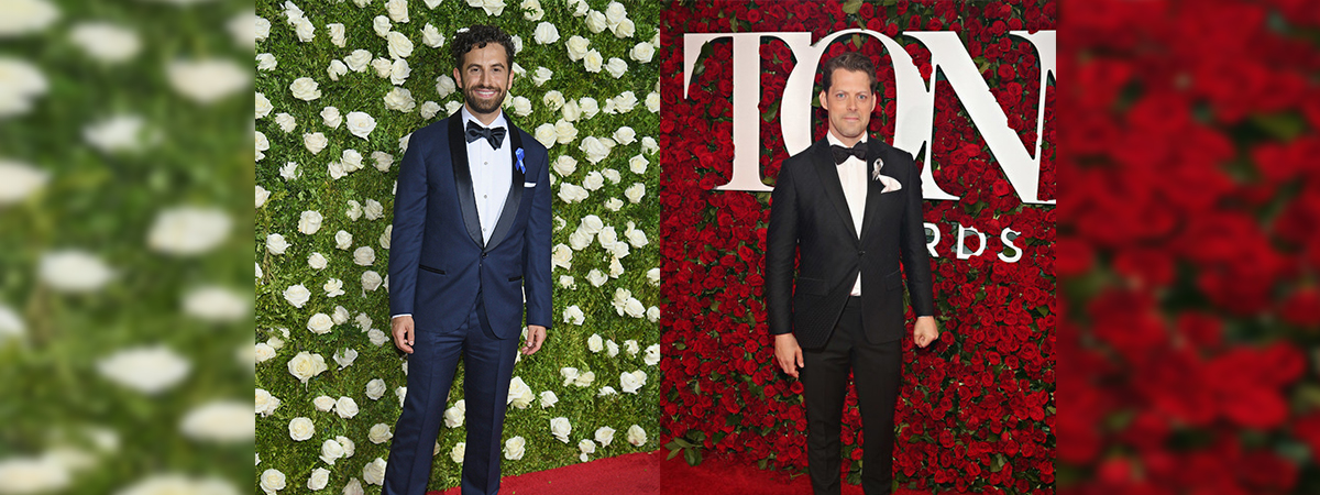 Brandon Uronawitz and David Furr on the Tony Awards red carpet